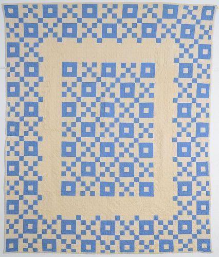 Nine Patch Medallion Quilt: Circa 1920; Pennsylvania