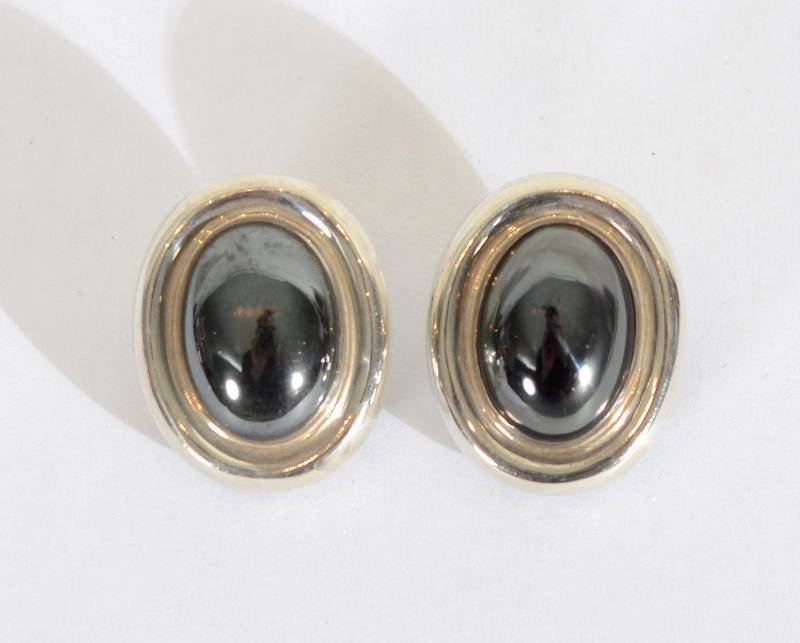 Paloma Picasso Sterling and Hematite Earrings