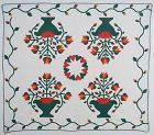 Pots of Flowers Quilt: Dated 1876; Pennsylvania