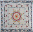 Early Lone Star Quilt with Chintz Border: Circa 1830's
