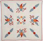 Great Seal Eagles Quilt: Circa 1870's; Pennsylvania
