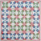 Laurel Leaf Quilt: Circa 1860