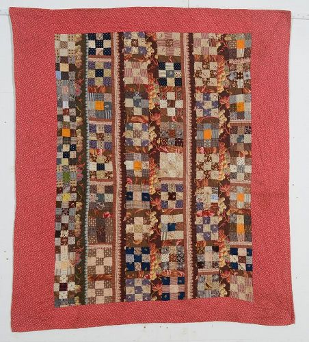 Nine Patch Crib Quilt: Circa 1880; Pennsylvania