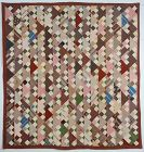 Three Patch in Triangles Quilt: Circa 1870's; Pennsylvania