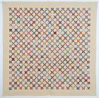 Postage Stamp Nine Patch Quilt: Circa 1910; Pennsylvania