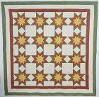 Touching Stars Quilt; Circa 1870; Pennsylvania