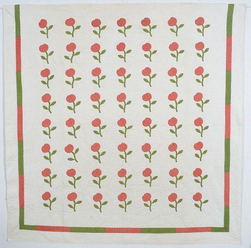 Apples Quilt: Circa 1870