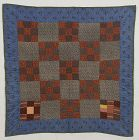 Nine Patch Crib Quilt: Pennsylvania; Circa 1880