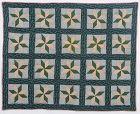 LeMoyne Stars Crib Quilt: Circa 1860; Pennsylvania