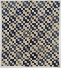 Improved Four Patch Quilt with Conversational Prints: Ca. 1890; Pa.