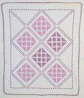 Lavender Geometric Quilt: Circa 1920; Pennsylvania