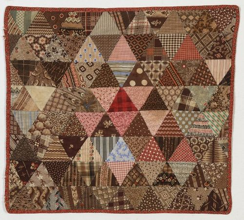 Thousand Pyramids Doll Quilt: Circa 1880: New Hampshire
