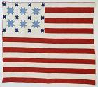 Patriotic American Flag Quilt: Circa 1880; Maryland