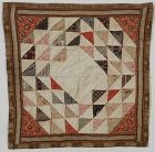 Ocean Waves Doll Quilt: Circa 1880