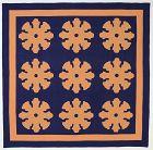 Snowflake Applique Quilt: Circa 1880; Pennsylvania