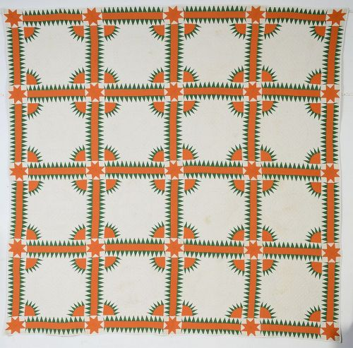 New York Beauty Quilt: Circa 1920; Pennsylvania