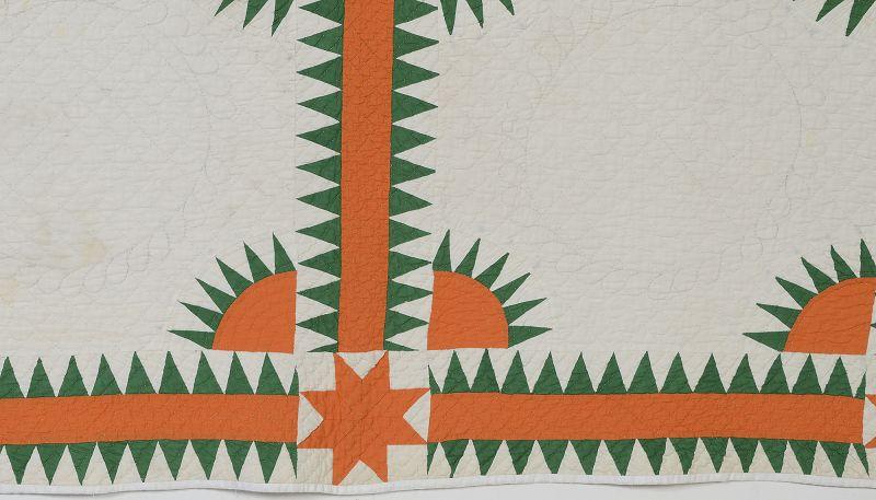New York Beauty Quilt: Circa 1920; Pennsylvania