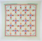 Pots of Tulips Quilt: Circa 1900: Pennsylvania