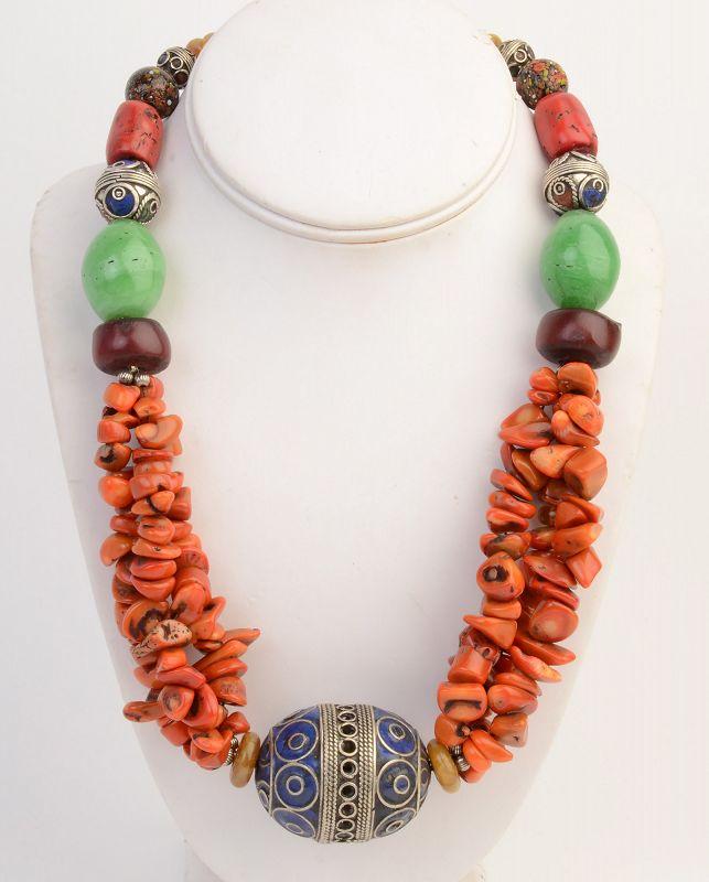 Moroccan Berber Bead Necklace