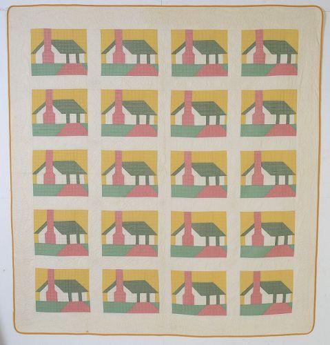 "Ruby McKim ""Honeymoon Cottage"" quilt: Circa 1935:Pennsylvania"