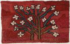 Bouquet of Flowers Hooked Rug: Circa 1930; Pennsylvania