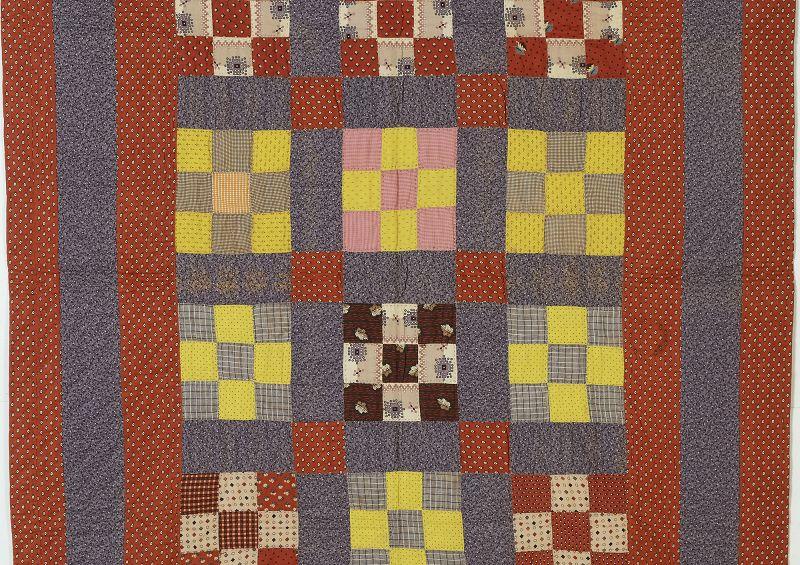 Nine Patch Crib Quilt: Circa 1880; Pennsylvania