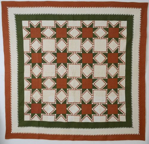 Feathered Stars Quilt: Circa 1870; Maryland