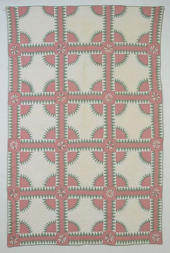 Pair of New York Beauty Quilts: Circa 1920; Pennsylvania