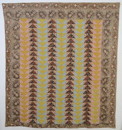 Flying Gees Quilt: Circa 1850; Pennsylvania