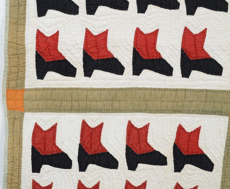 Boots Quilt: Circa 1930