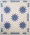 Starbursts Quilt: Circa 1920; Pennsylvania