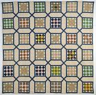 Nine Patch inside Garden Maze Quilt: Circa 1869;Virginia