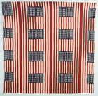 Reversible Flag and Log Cabin Quilt: Circa 1912; Pennsylvania