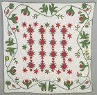 Double X Crib Quilt: Pennsylvania; Circa 1870