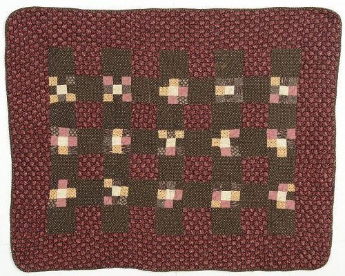 Nine Patch Crib Quilt: Circa 1880's; Pennsylvania