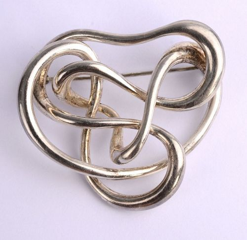 Angela Cummings Sterling Silver Scribble Brooch