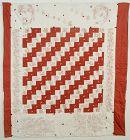 Reversible Flag/Streak of Lightning Quilt: Circa 1890's