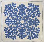 Hawaiian Applique Quilt: Circa 1930's