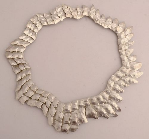 "Eduardo Herrera Silver ""Scales"" Necklace"