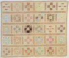 Nine Patch Crib Quilt: Circa 1870