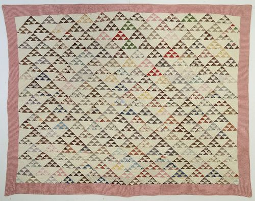Birds in the Air Quilt: Circa 1880