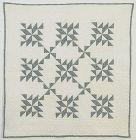Pinwheels Crib Quilt: Circa 1910;Pennsylvania