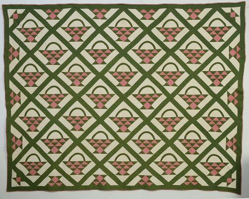 Baskets Quilt; Circa 1880; New York State