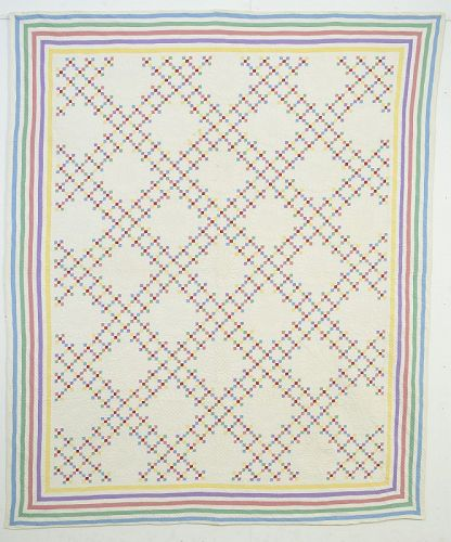 Double Nine Patch Quilt: Circa 1920; Indiana