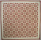 Turkey Tracks Quilt: Circa 1830's
