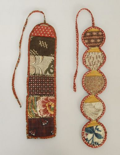 Huswif Roll-up Sewing Pockets: New York; Circa 1840