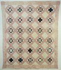 Variable Stars Quilt: Circaa 1830's; New York