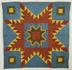 Feathered Star Crib Quilt: Circa 1840; Pennsylvania