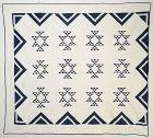 Double X Quilt: Pennsylvania; Circa 1870's