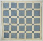 Nine Patch Signature Quilt: Dated 1933; Indiana